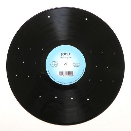 本物のレコードで出来たキーフック   アクセサリーラック   キーホルダー掛け  ミラー付 インテリア 玄関 KR-005