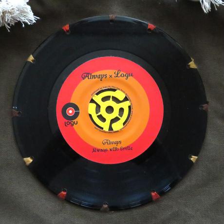 マリントートバッグ「bagu」本物のレコードを使った大き目トートバッグ カーキ  MT-103KR