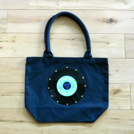 本物のレコードを使ったキャンバスバッグ「bagu」ガーデントート ネイビー  GT-101NBLB