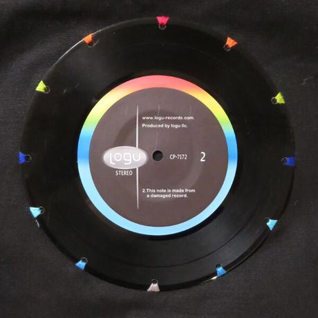 本物のレコードを使ったショルダーバッグ「bagu」ブラック ST-008BK