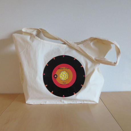 本物のレコードを使ったバッグ  「bagu」ショルダーバッグ アップサイクル ナチュラル SB-103NAR