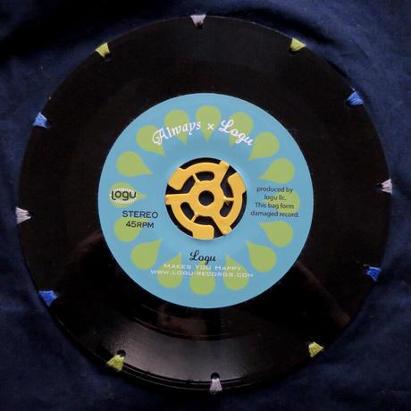 本物のレコードを使ったバッグ  「bagu」ショルダーバッグ ミッドナイトブルー SB-101NVB