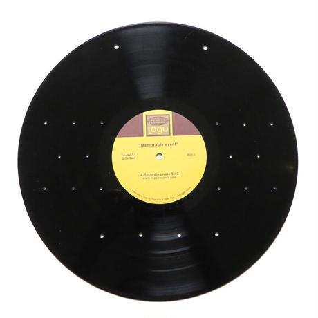 キーラック  玄関  壁掛け 本物のレコードで出来た アクセサリーラック   キーホルダー掛け  ミラー付 KR-003