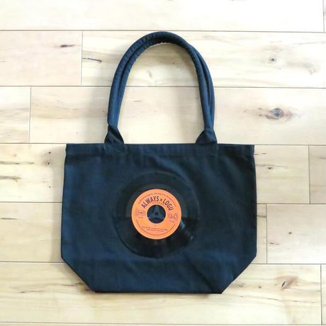 本物のレコードを使ったバッグ「bagu」キャンバストート ブラック レコードバッグ アップサイクル GT-104BKO