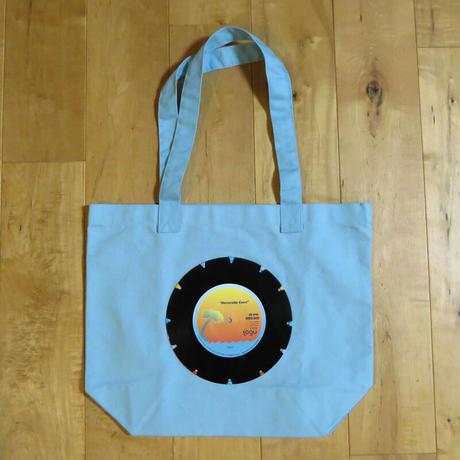 本物のレコードを使ったバッグ「bagu」M トートバッグ ライトブルー TOM-011SBL