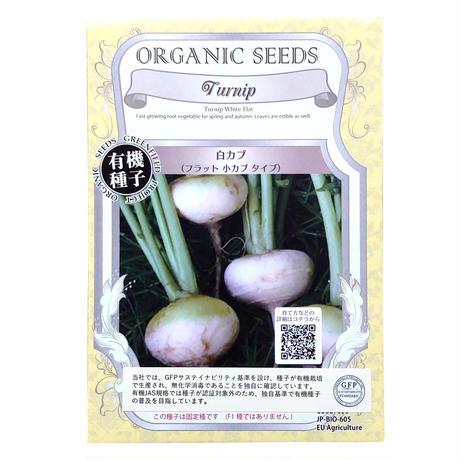 【有機種子】白カブ(フラット小カブ) 2.2g(約2,000粒) ※レターパックライト発送可能