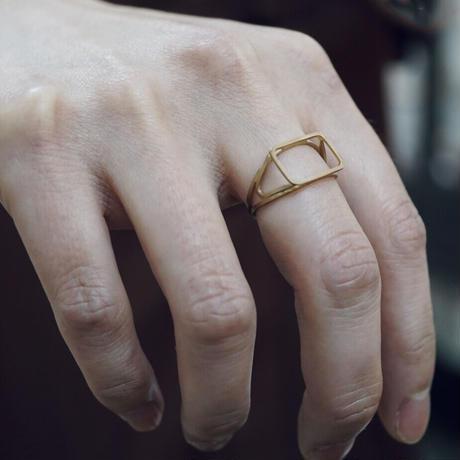 signet ring framed rectangle