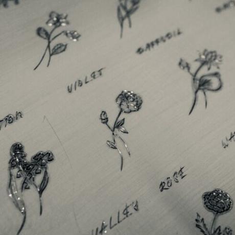 engraving birth month flower / 模様彫り 誕生月花【要お問い合わせ】