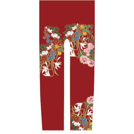 花 キッズレギンス 紅葉色   105cm