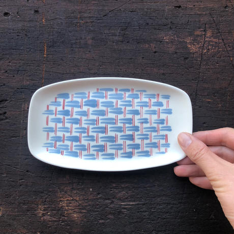 Pool Pottery / Basket pattern dish