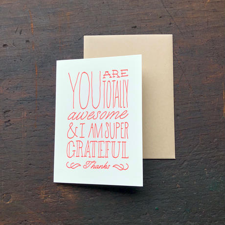 HOLSTEE / Thank you card