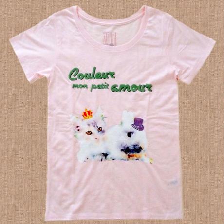 T-shirt/ Couleur mon petit amour Tシャツ