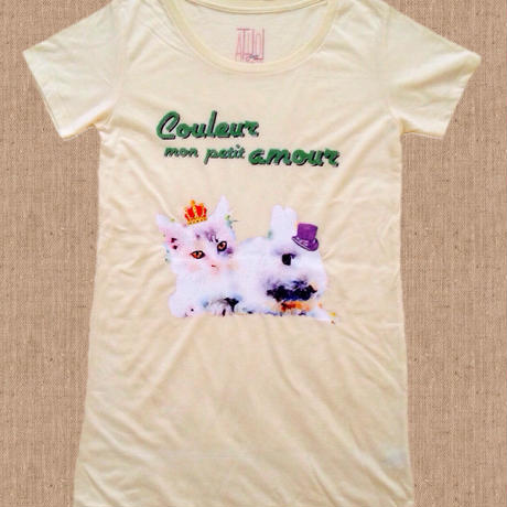 T-shirt Couleur mon petit amour ロング丈Tシャツ(Long)