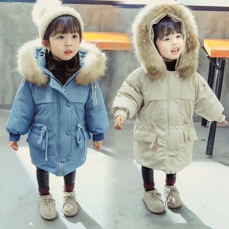 キッズ 暖かい 中綿コート 韓国子供服 ライトブルー ベージュ コート 防寒 上着 子供服 おしゃれ 男の子 アウター 女の子 ユニセックス ベビー キッズ ベビー 送料無料 TAGX11572