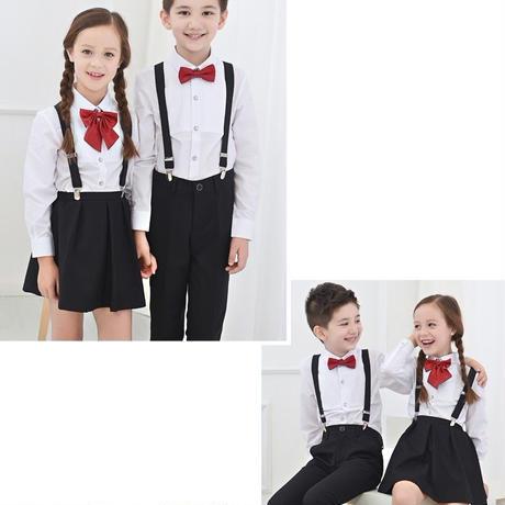 キッズ 子ども服 子ども用ファッション小物 その他ファッション小物 4点セット 女の子 男の子 キッズスーツ プチプラ フォーマル スーツ サロペット TAGX10708