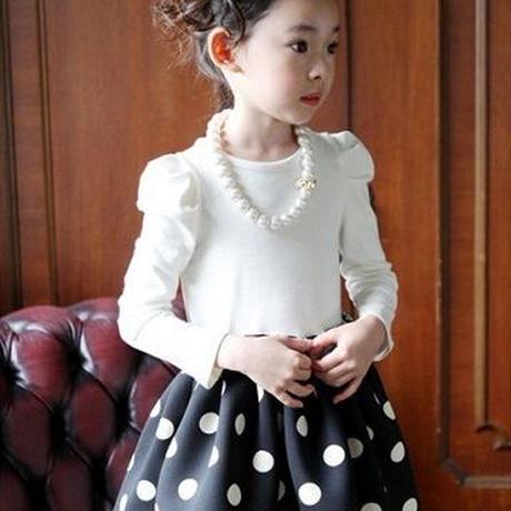 キッズ 子ども服 子ども服(女の子) ワンピース ネックレス付き ドット 水玉 千鳥格子 女の子 ドレス 子供ワンピース フォーマル 子どもワンピース 子ども TAGX10854