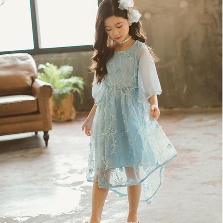 bc0cb5f5d657f ... シフォン女の子ワンピース パーティー 結婚式 子供レース ワンピース 子どもドレス フォーマルドレス キッズ 子供ドレス ...