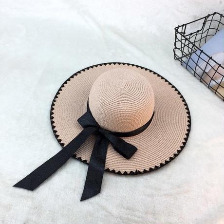 カラーバリエーション豊富 激安セール夏のレディース リボンペーパーハット 日焼け止め 女性 レディース 麦わらハット 帽子 夏 ハット UVカット UV帽子 UV TAGX11735