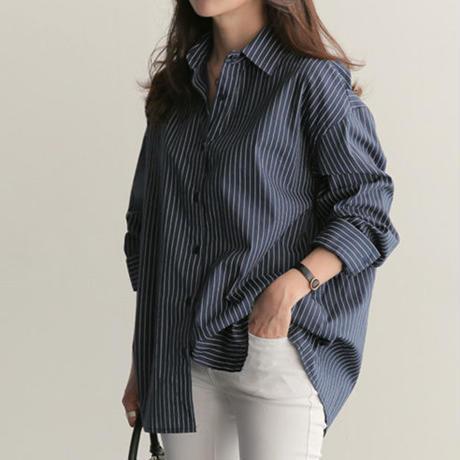 ストライプ シャツ レディース 長袖 春 夏 秋 ワイシャツ シャツ ブラウス S M L XL 大きいサイズ 白 ホワイト ネイビー黒 ワークシャツ シャツブラウス オーバーシャツTAGX11661