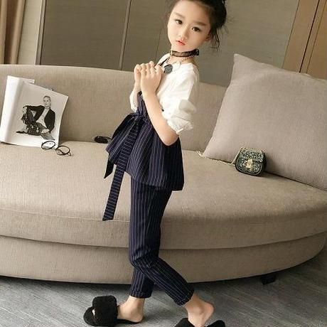 5ac079c603f49 ... ヴィスチェ風 おしゃれ 入学式 子供服 女の子 卒業式 パンツスーツ 女の子 韓国子供服
