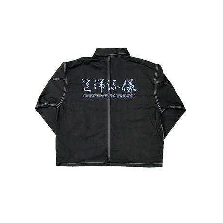 LONELY論理#20 STREET FASHION BLACK DENIM COVERALL/ONLINE LIMITED