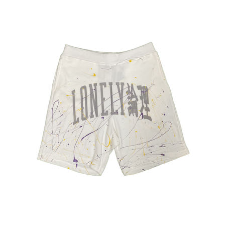LONELY論理 LONELY UNIV SWEAT SHORTS PAINT Ver