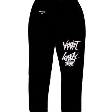 #12 VAZVERT×LONELY論理 METALIC SWEAT PANTS