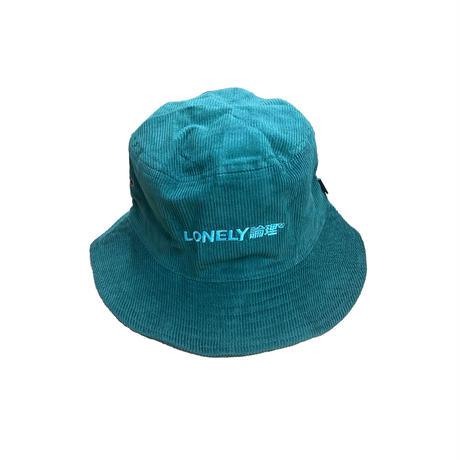 LONELY論理 LOGO CORDUROY BUCKET HAT
