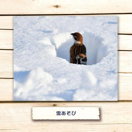 雪遊び【キャンバスタイプ】