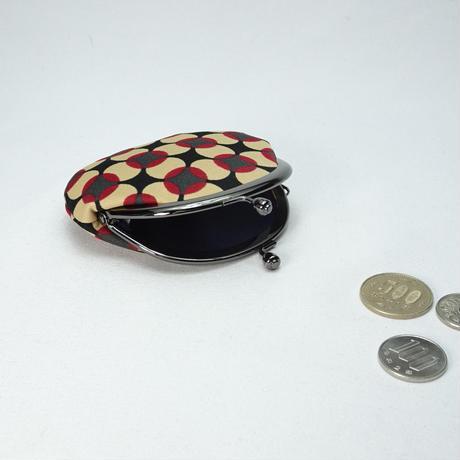 2.6寸丸小銭入れ 水玉フラワー 赤