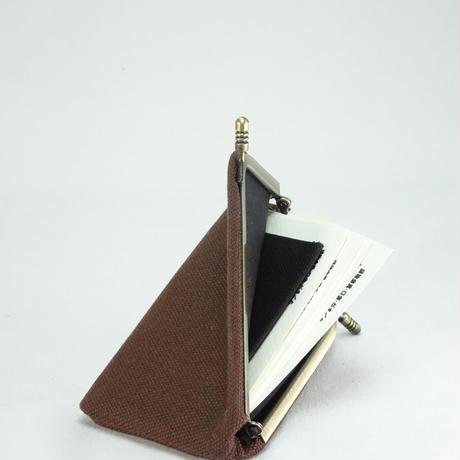 名刺カードケース 帆布ブラウン