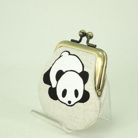 1.8寸豆小銭入れ パンダ オフホワイト色
