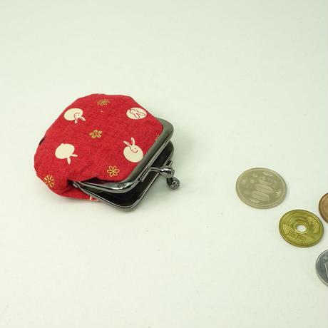 1.8寸豆小銭入れ うさぎ 赤色