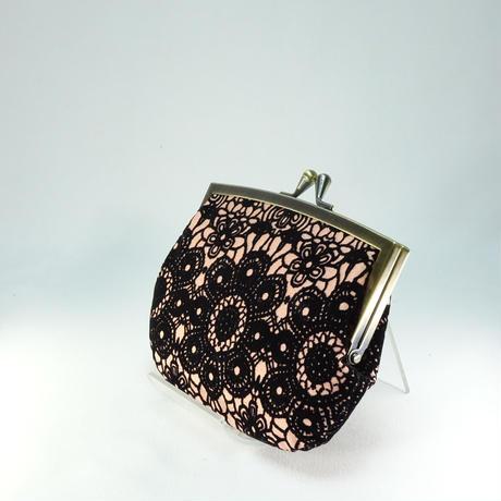 4.3寸角切親子財布 フロッキーレースピンク