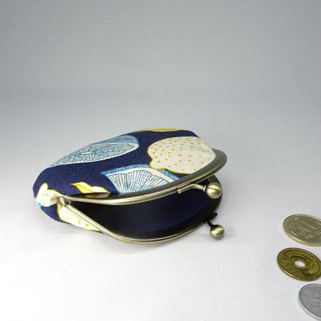 3.3寸丸小銭入れ レモン 紺色