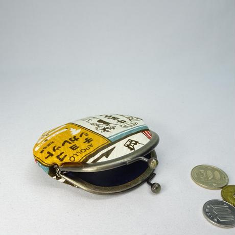 2.6寸丸小銭入れ レトロ看板 青