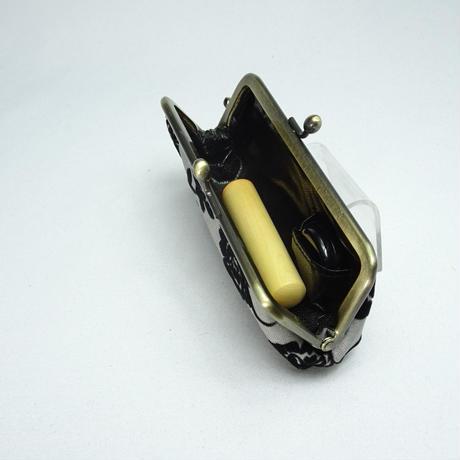 3.8寸印鑑ケース(朱肉付き)フロッキーローズ グレー