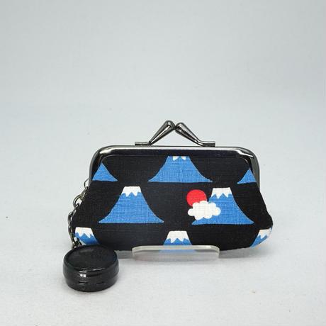 2.5寸印鑑ケース(朱肉付き)富士山 黒色