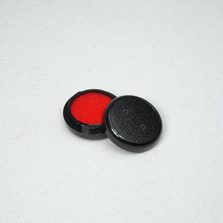3.8寸印鑑ケース(朱肉付き)がま口とかえる 赤