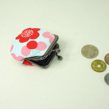 1.8寸豆小銭入れ  梅 水色