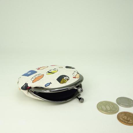 2.6寸丸小銭入れ 寿司ねこ