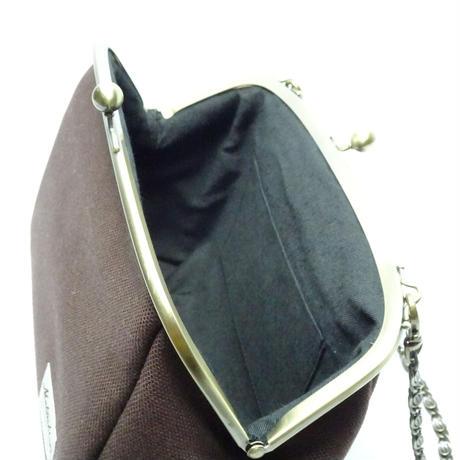 6.8寸丸マチショルダーバッグ 帆布ブラウン