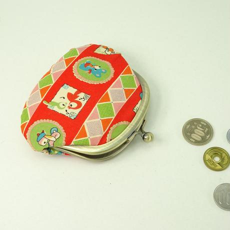 3.3寸丸小銭入れ レトロ 赤色①