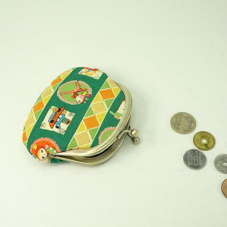 3.3寸丸小銭入れ レトロ 緑色