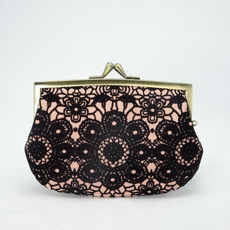 4.3寸角切親子財布 フロッキーレース ピンク