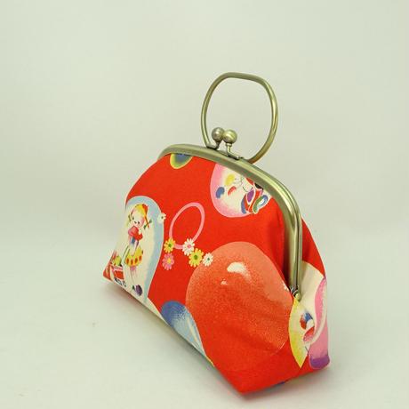 5.5寸リング付ポーチ レトロ 女の子・バンビ 赤色