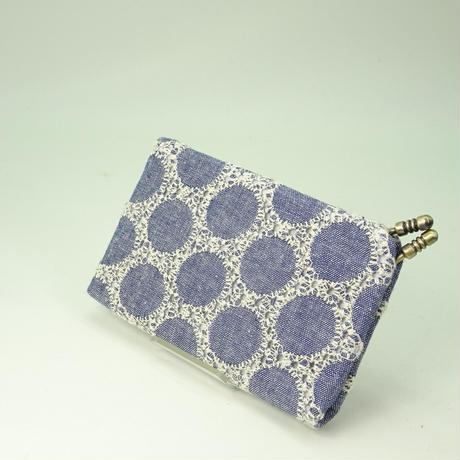名刺カードケース ダンガリー丸刺繍