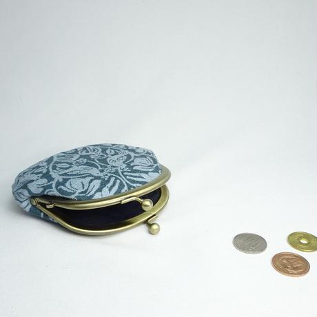 3.3寸丸小銭入れ 森の動物 濃青緑×薄青緑
