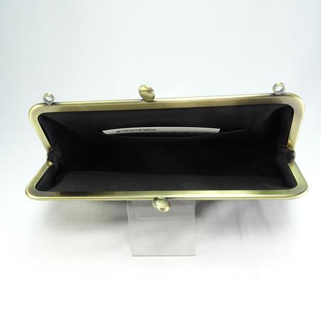 6.8寸碁石玉ショルダーバッグ フロッキーローズグレー
