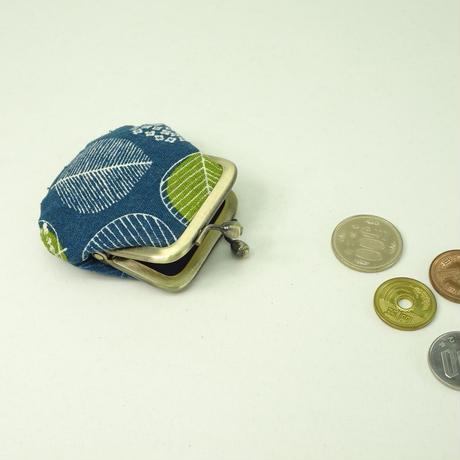 1.8寸豆小銭入れ リーフ ブルー色